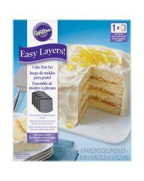 Wilton cake pan easy layers 4 x 15 cm vierkant