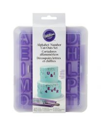 !!Nieuw!! Wilton Cut-Outs- Alphabet & Numbers