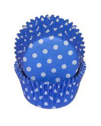 CK Baking Cups Blauw / witte stip