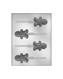 Chocolade Lolly Mold Gingerbread