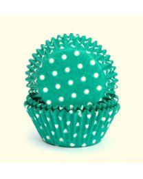 CK Baking Cups Groen met witte stippen