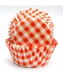 CK Baking Cups Oranje Ruit