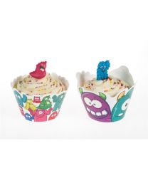 Cupcake Wrap Monsters - 12