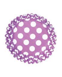 Baking Cups Purple Spot - Culpitt
