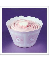 Cupcake Wrapper Baby Pink - 12