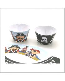 Cupcake Wrapper Piraten - 12