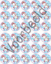 Cupcake Rondjes Eenhoorn - 30