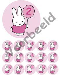 Eetbare Print + 15 Cupcake rondjes - 2 jaar - Roze