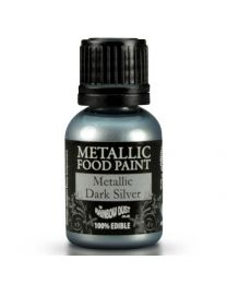 RD Pot Metallic Food Paint Dark Silver