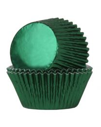 House of Marie Baking Cups Folie Groen - pk/24