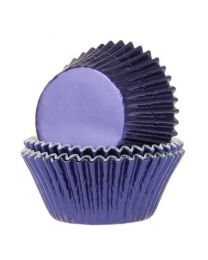 House of Marie Baking Cups Folie Navy Blauw pk/24