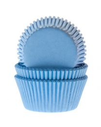 House of Marie Baking Cups Licht/sky Blauw pk/50