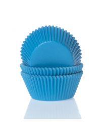 HoM Baking Cups Cyaan Blauw - 50