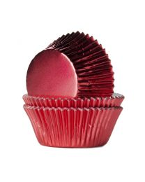 HoM Baking Cups Rode Folie - 24