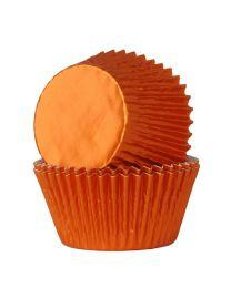 HoM Baking Cups Oranje Folie - 24