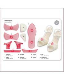 JEM Ladies Shoe, schoen, naald hak pump Cutter & Embosser Set