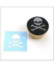 JEM Cupcake Stencil Skull & Crossbones