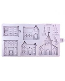 Karen Davies Siliconen Mould - Winter Village