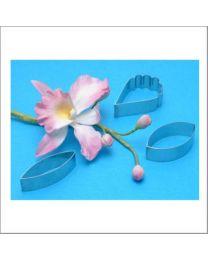 PME Cattleya Orchid Petal Cutter Set - 3 dlg