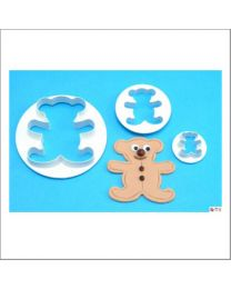 PME Teddy Bear Cutter Set - 3 dlg