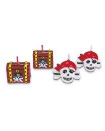 Piraten kaarsen Set - 4 dlg