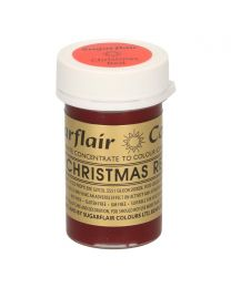Sugarflair Paste Colour CHRISTMAS RED 25g