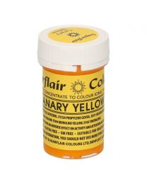 Sugarflair Paste Colour Canary Yellow 25g