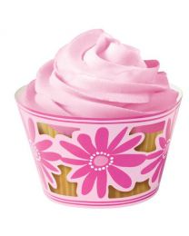 !Wilton Cupcake Wraps Pink Flower Party (18)