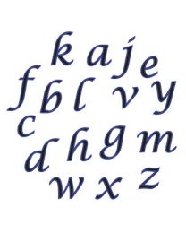 FMM Alphabet tappits kleine letters Cursief