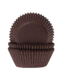 House of Marie Baking cups Bruin - pk/50