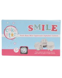 Cake Star Mini Alfabet Cutters 26 delig