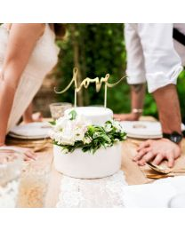 Cake Topper - Love - goud - PartyDeco
