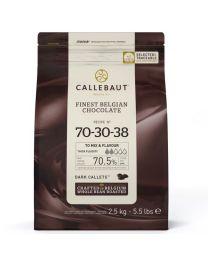 Callebaut Chocolade Callets -Extra Puur (70,5%)- 2,5 kg