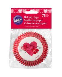 Wilton Baking Cups Heartfelt Confections pk/75