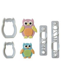 FMM Mummy and baby owl cutters