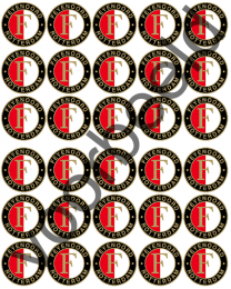 Eetbare Cupcake Print Feyenoord - 30 -
