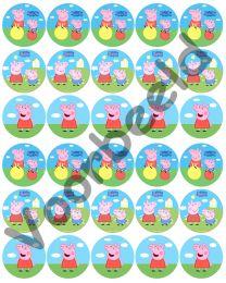 Eetbare Cupcake Print Peppa Big - 30