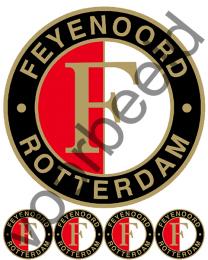 Eetbare Taart Print Feyenoord - 20 cm -