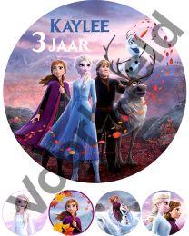 Eetbare Print Frozen II - 20 cm - 1 met naam