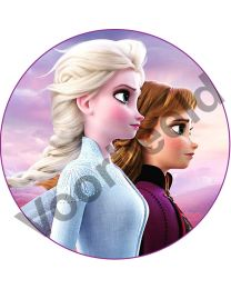 Eetbare Print Elsa & Anna Frozen II - 14cm