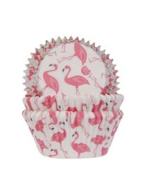 House of Marie Baking Cups Flamingo pk/50