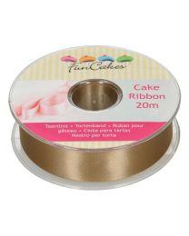 FunCakes Cake Ribbon -Goud- 25mmx20m