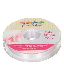 FunCakes Cake Ribbon -Wit- 15mmx20m