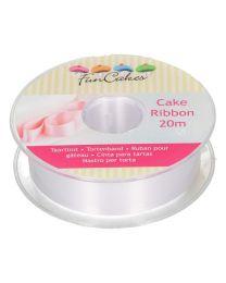 FunCakes Cake Ribbon -Wit- 25mmx20m
