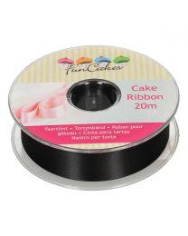FunCakes Cake Ribbon -Zwart- 25mmx20m