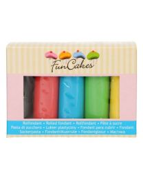 FunCakes Rolfondant Multipack Essential Colours 5x100g