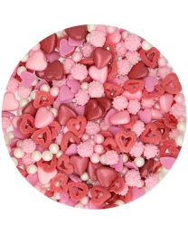 Sprinkle Medley -Loveley - 60g (rood/rose/wit)