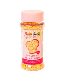 Funcakes Mini confetti Metallic Yellow 70gr
