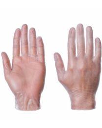 Handschoenen Vinyl gepoederd L wit 100 stuks