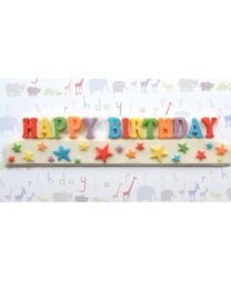 Katy Sue Mould Happy Birthday Stars Banner